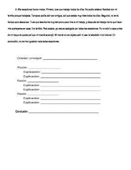 Spanish for heritage speakers - paragraph worksheet #1 (identify parts)
