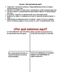 Spanish for heritage speakers poster activity - Why are we