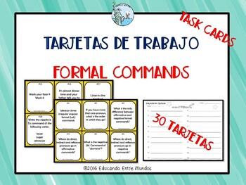 Mandatos Commands Los mandatos formales
