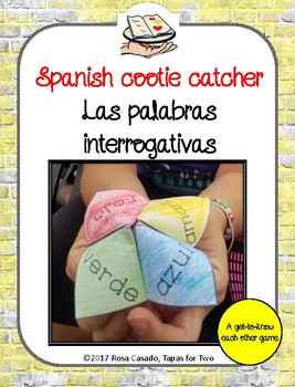 Spanish fortune teller Interrogativas, question words