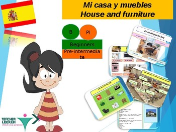 Spanish furniture, muebles en la casa in Spanish for beginners