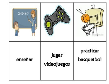 Spanish game: AR verbs Conjugation- go fish game/concentration(memory) game