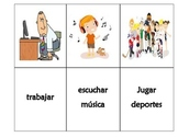Spanish game: AR verbs Conjugation- go fish game/concentra