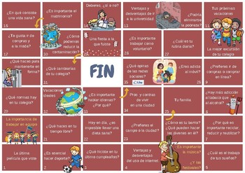 Spanish game for intermediate students