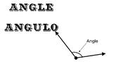 Spanish geometry word wall