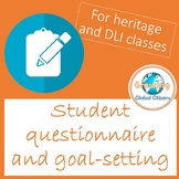 Spanish goal setting and questionnaire for heritage speakers