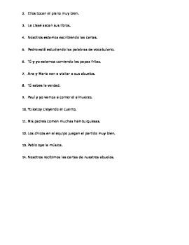 Spanish grammar practice