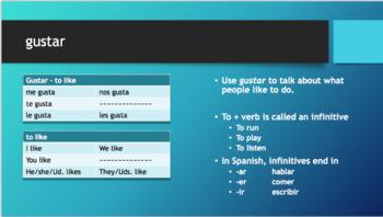 Spanish gustar with infinitive bundle
