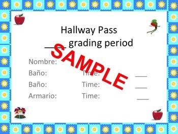 Spanish hall pass