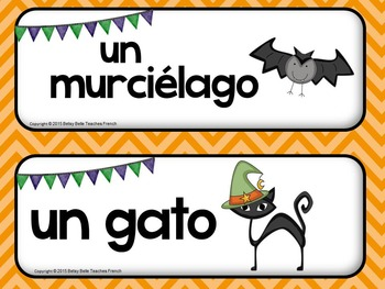 Spanish halloween Wall Words