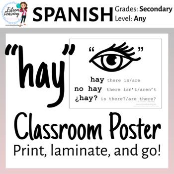 "Spanish ""hay"" poster"
