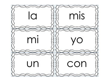 Spanish high frequency words Bingo