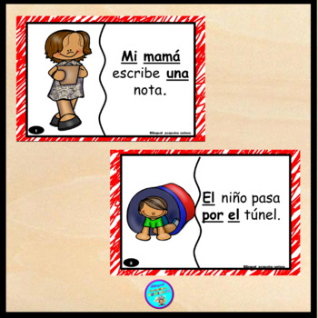 Spanish high frequency words (sentence puzzles) for kindergarten