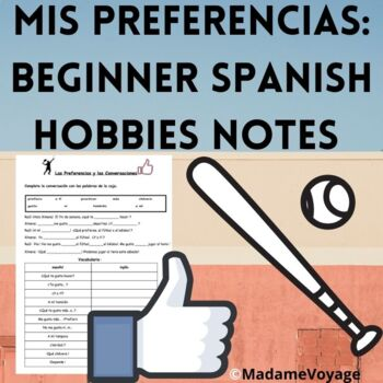 Spanish hobbies/sports/preferneces/ar verbs Realidades 1A