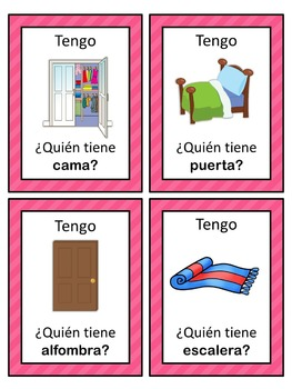 Spanish house  Tengo ... ¿Quién tiene ...?