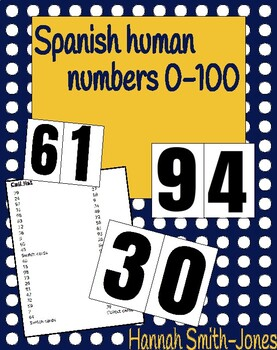 Spanish human numbers 0-100