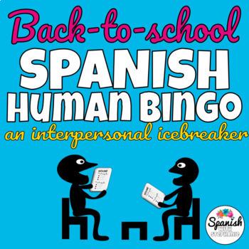 Spanish game: Human Bingo (first week back to school)