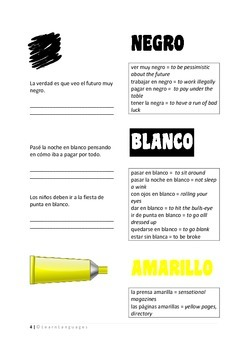 Spanish idioms with color words