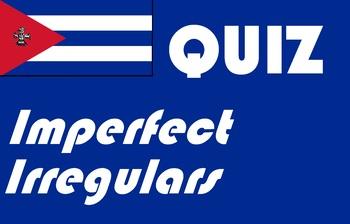 Spanish imperfect irregular quiz or worksheet