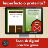 Spanish imperfect o preterito digital game