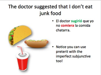 Spanish imperfect subjunctive notes and practice
