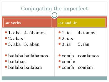 Spanish imperfect tense
