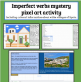 Spanish imperfect verbs Mystery Picture Activity and Reading Comprehension