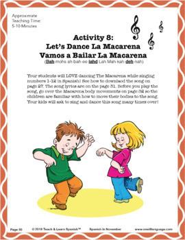 Spanish in November Lesson & CD (Ages 3-8)