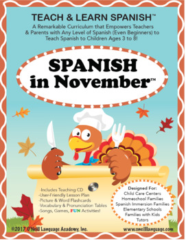 Spanish in November Lesson & CD (Ages 3-8)