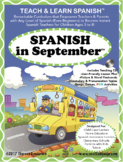 Spanish in September Lesson Plan & CD (for Ages 3-8)