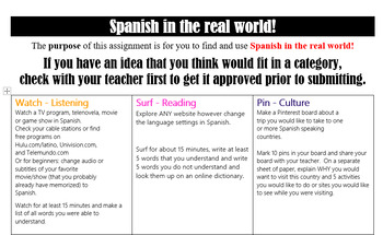 Spanish in the REAL World!