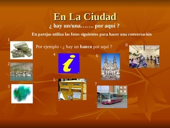 Spanish in the town; places and giving and asking directions