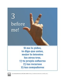 Spanish independent learning classroom encouragement poster