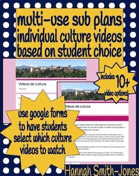 Spanish individual culture video sub plans