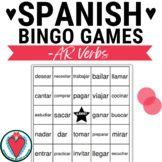 Spanish Verb Bingo: AR Verbs in the Infinitive Form