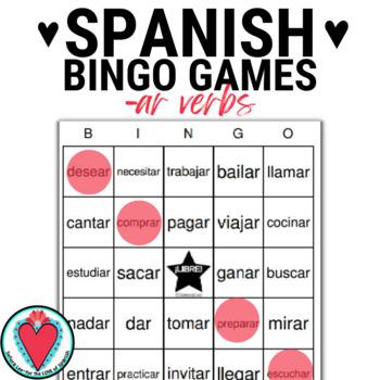 Spanish AR Verbs BINGO