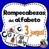 Spanish initial sound alphabet puzzles