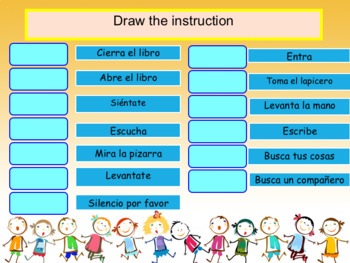 Spanish instrucciones en la clase, classroom instructions full lesson