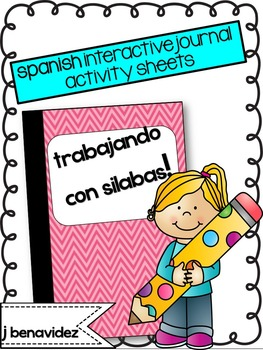 Spanish interactive notebook pages- Silabas!