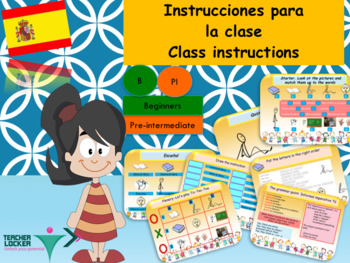 Spanish intrucciones para la clase, classroom instructions PPT for beginners