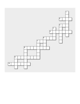 Spanish ir, tener, poder, hacer preterit word puzzles