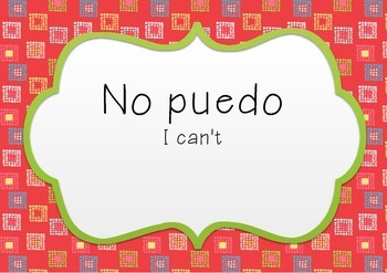 Spanish key words posters
