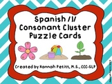 Spanish /l/ Consonant Cluster Puzzle Cards