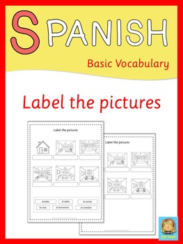Spanish label the pictures