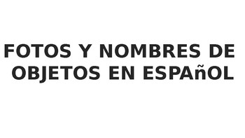 Spanish lables for prek