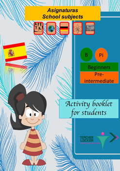 Spanish school subjects, asignaturas full lesson (PPT book