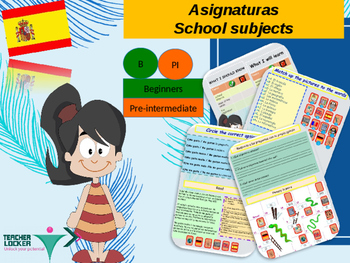 Spanish school subjects, las asignaturas PPT for beginners