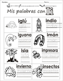 "Spanish letter of the week ""i"" 8 different center/homework activities"
