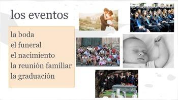 Spanish Family Relationship + Events w/ Suibjunctive Practice Packet: subjuntivo