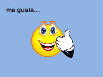 Spanish likes and dislikes - Gustar and Activities Powerpoint